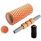 Masaje de Rodillos de Espuma Bola de la Fascia de la Columna de Yoga Adecuado para el hogar 33 cm Rodillo de Espuma Set Relajante Roller Stick Rodillo de Espuma Suave