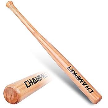 Champkey Premium Wooden Baseball Bats   100% Hardwood Softball Bats   Self-Defense Wooden Bats