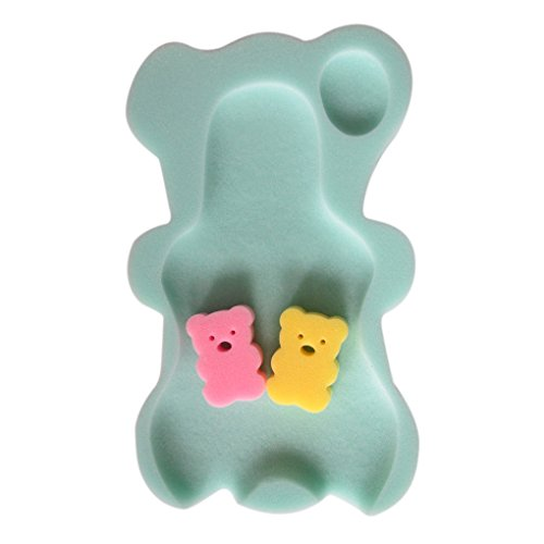 Aiming 9 Colores Esponja del baño del bebé Alfombrilla Antideslizante Mat Esponja Antideslizante bañera Infantil de baño del cojín del Asiento recién Nacido para el Cuidado del bebé