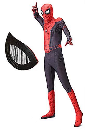 Spiderman Costume Carnevale Spider Man Far from Home Bambino Uomo Cosplay Animazione SPM014B (160-170)