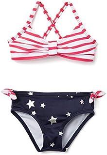 Gymboree Girls' Toddler 2-Piece Swim Set True red Stripe 2T [並行輸入品]