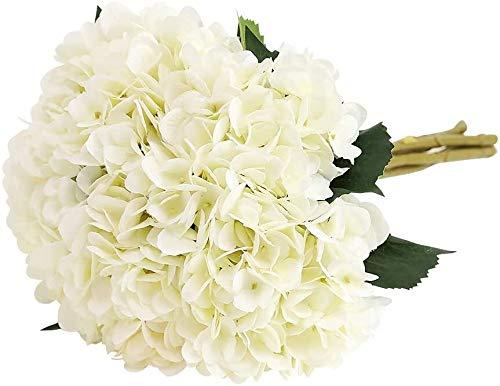 ZWR Artificial Hydrangea Flower Ramo de Novia,5 PCS Ramos de hortensias de Seda de Tallo Largo para Bodas, hogar, Hotel, decoración de Fiestas, centros de Mesa
