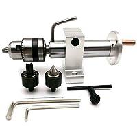 GUONING-L センターDIYアクセサリー木工リボルビング旋盤用の爪を持つ多機能掘削テールストックライブセンター 旋盤旋盤工具