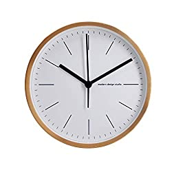 Comodo Casa Wall & Desk Clock- Metal Frame-Glass Cover-Non Ticking-Quartz Sweep-Silent 6 inch Classic Clock-Gold