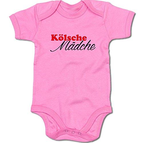 G-graphics Kölsche Mädche Baby Body Suit Strampler 250.0108 (0-3 Monate, pink)