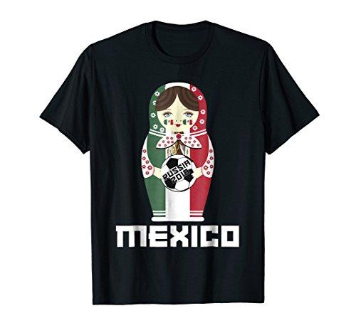 Mexico National Flag Dressed Matryoshka Soccer Fan Shirt