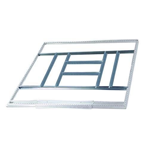 Gardiun KIS14007 – Struttura metallica per pre-installazione del pavimento Casette da 7,74 m² – 311 x 231 cm