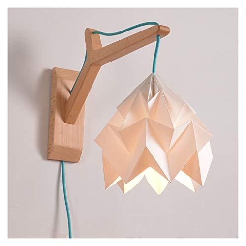 W. Lámpara de Pared, lámpara Creativa, de Estar Pasillo Pasillo Sala de Decoración Araña de Origami Estudio Dormitorio de la lámpara de Pared de la lámpara [Clase de energía A ++] (Color : C)