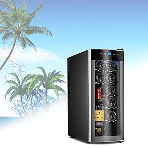 BELOVINGSHOP Cristal Vinoteca Nevera, Mini Cerveza Congelador Puede Contener Doce Botellas De Vino Tinto, Ciclo Hidratante, Control De Temperatura Alcance 10~18 ° C / 50~64 ° F