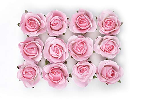 Tassel Toppers Peel and Stick Flat Back Roses for Grad Cap Decoration - Assorted Colors - Flowers, Floral Stickers, Adhesive Backed Roses (Pink)