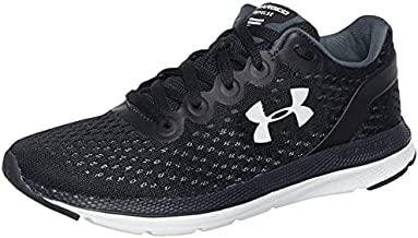 Under Armour womens Charged Impulse Running Shoe, Black (002 White, 8.5 US