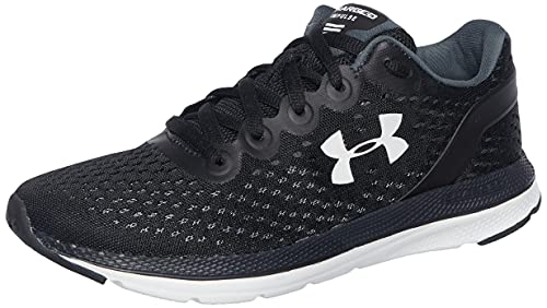 Under Armour Women's Charged Impulse Running Shoe, Black (002)/White, 6.5