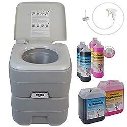 BB Sport WC + 2x2l sanitary liquid + syringe camping toilet 20l portable chemical toilet