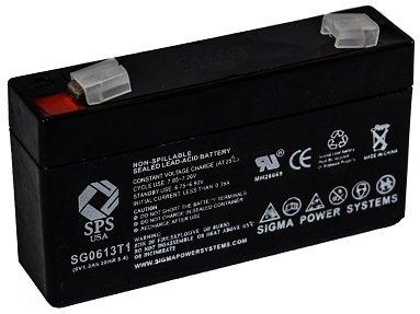 SPS Brand 6V 1.3Ah Replacement Battery for Consent GS6V1.3AH