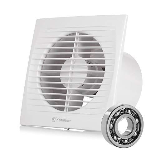Hon&Guan 150mm Ventilador Extractor de Aire Silencioso 295m³/h para Oficina, Baño, Dormitorio (Modelo C -150mm)