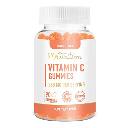 Vitamin C Gummies, 250mg (90 Count) - Adults & Kids Vitamin C Chewable Immune Support; Citrus Flavored Immunity Support Gummies