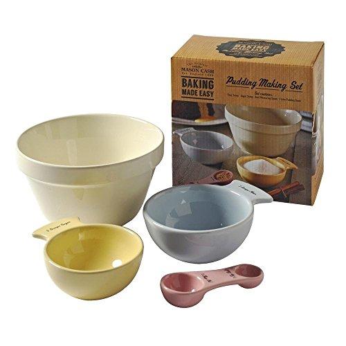 Mason Cash Baking Made Easy Set zum Zubereiten von gedämpftem Pudding, aus Keramik, Mehrfarbig