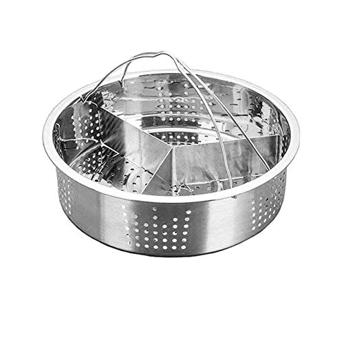 Heritan Trio Separator Set Steel Steamer Basket Rack Accessories Fast Steaming Grid Basket Divider for Cooking