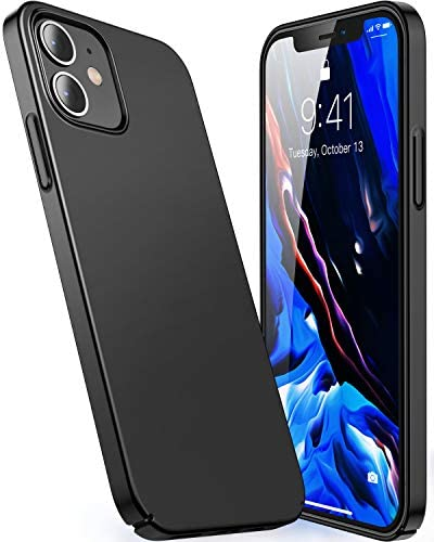 CASEKOO Slim Fit Compatible with iPhone 12 Case, Designed for iPhone 12 Pro Case 6.1 inch 5G (2020), [Ultra Thin] Silky Soft Touch Hard PC Matte Finish Grip Protective Phone Cover - Pacific Blue