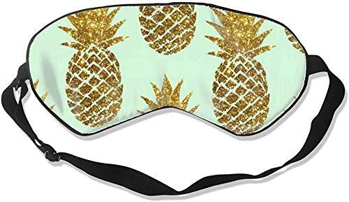 Premium Qualität verstellbare Augenschatten für Männer, Frauen und Kinder, bequeme Schlafdecke für Reisen / Nickerchen / Schichtchen (Happy Camper Pink Retro Flamingo Camping)