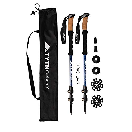 TYTN Carbon X Trekking Poles – Ultralight Carbon Fibre Quick Lock, Nordic Style for Hiking, Trekking & Outdoor Pursuits