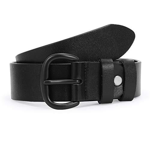 SUOSDEY Ledergürtel gute Qualität weiches Leder Damen Gürtel mit Metallschnalle, Jeansgürtel für Frauen, Breite 3,3 cm