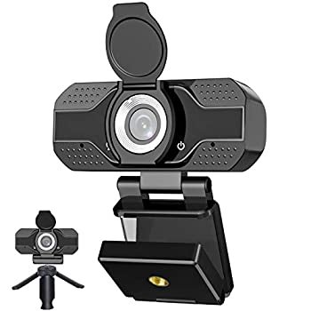 Webcam with Microphone for Desktop 2021 Edition 1080P HD USB Computer Cameras with Privacy Shutter&Webcam Tripod Mini USB Web Camera for Streaming Online Class/Zoom/Skype/Facetime/Teams