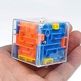 Dorime 1PC 3D Cubo mágico Laberinto Laberinto Juquetes Aprendizaje Rompecabezas Laberinto Bola para los niños del Cabrito Juguete