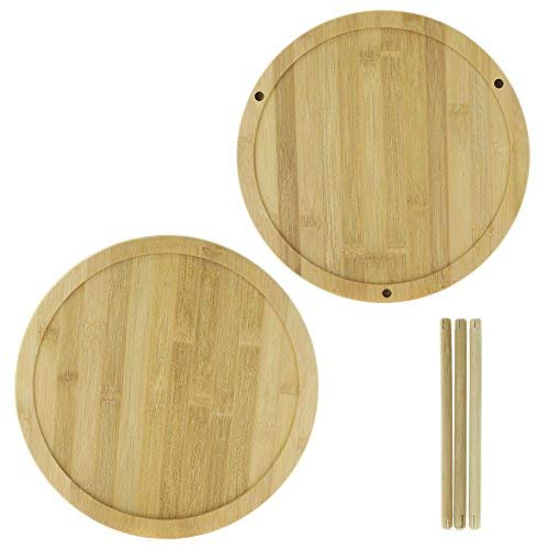 """Adorn Home 2-Tier Premium Bamboo Lazy Susan 