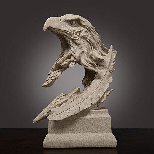 CWWU Statua da Giardino Figurine da Giardino Statuettescultura in Pietra Arenaria Aquila Ornamenti Arredamento per Ufficio Decorazione Ufficio