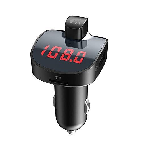 Transmetteur FM kit de voiture mains libres Bluetooth, adaptateur audio radio sans fil avec double USB, 5V 3.1 un chargeur USB, 3.5 mm port audio carte TF slot, USB Flash Drive port avec Jack 3,5