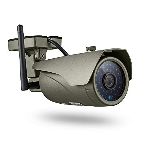 KERUI Cámara Sistema de vigilancia Exterior Monitor IP 720P IP67 de Seguridad, detección de Movimiento y alertas de intrusión Resistente al Agua, Soporte iOS, Android y PC