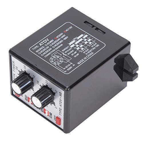 Control de Perilla CMOSIC ATDV-ND Temporizador Relé Temporizador de Encendido y Apagado Relé Interruptor de Tiempo Relé Múltiples Combinaciones de Tiempo Multifunción para Campos
