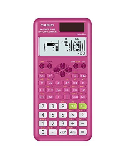 Casio Wissenschaftlicher Taschenrechner, fx-300ESPLS2, Pink