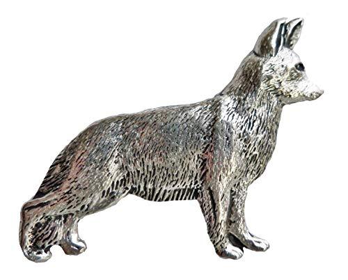 Deutscher Schäferhund Hunde elsässisch, Zinn-Abzeichen-von Hand hergestellt in Cornwall, UK