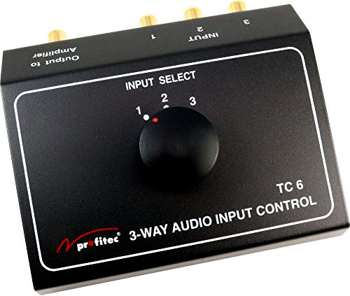 profitec TC 6 Audio Umschaltpult Cinch Umschalter mit 3 Eingängen
