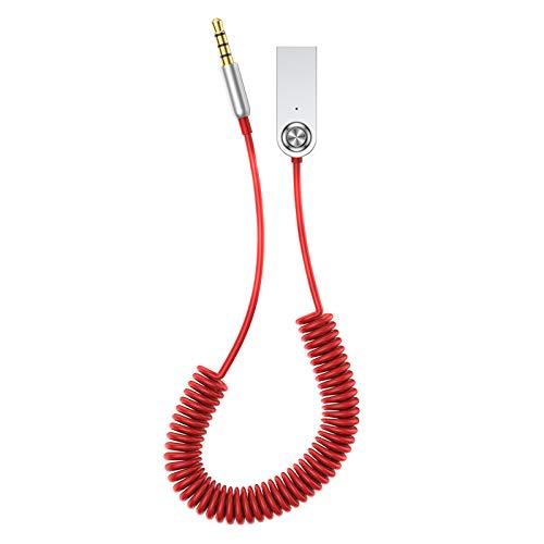 Lynn Aux Bluetooth Adapter Dongle Cable for Car 3.5mm Jack Aux Bluetooth Aux Bluetooth Adapter Dongle Kabel für Auto 3,5 mm Buchse Aux Bluetooth 5.0 4.2 4.0 Empfänger Lautsprecher Audio Musiksender