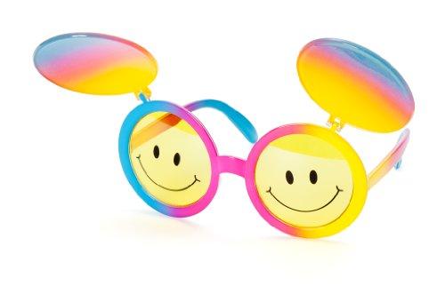 Brille mit Augenblende Smiley