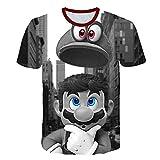 Tシャツキッズ半袖マリオパーフェクトTシャツ3Dプリントキッズガールズボーイズ 96528,140cm