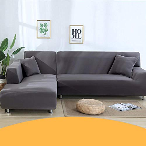 KKDIY Funda de sofá para Sala de Estar Funda elástica en Forma de L Chaise Longue 1/2/3/4 plazas Sofás Estuche Fundas elásticas-023, Seater4 (235-300CM), China