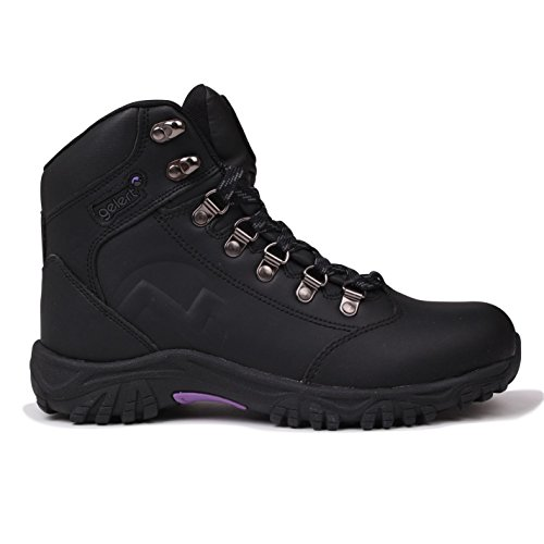 walking boots Gelert Womens Leather Walking Boots Outdoor Hiking Shoes