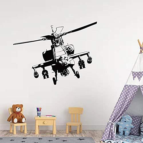 Helicóptero militar Hélice Avión Ejército Fuerza Aérea Fighter Vinilo Etiqueta de la pared Calcomanía Niño Niños Guardería Dormitorio Sala de estar Decoración para el hogar Mural