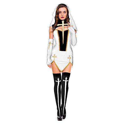 LYF Fiesta temtica de Halloween, Juego de Roles de monjas locas Disfraces de Discoteca Disfraz de Escenario
