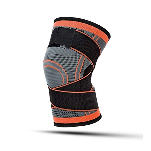 YUXIN Zhaochen 1PC Sport Pressurized Kneepad elastische Knie-Pads Stützhülse Basketball Volleyball Brace Training Fitness-Schutz (Color : 1 Piece Orange, Size : S)