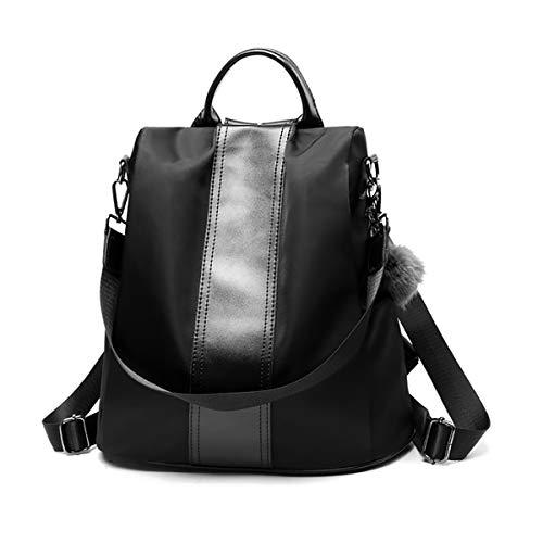 Tisdaini® Damen Rucksackhandtaschen PU-Nähte modische diebstahlsicher reise freizeit schulrucksack Schwarz