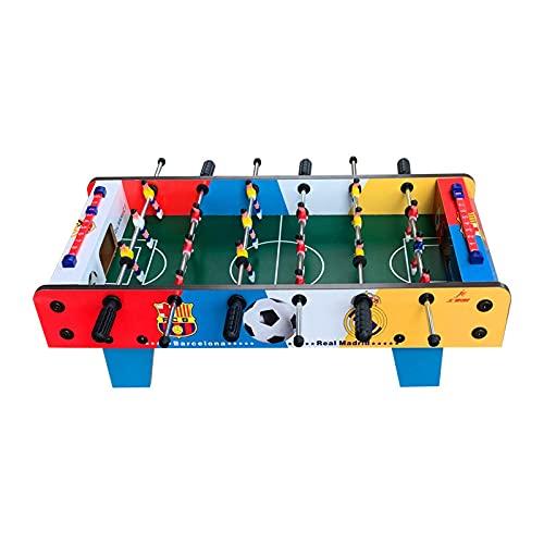 Color Futbolín Madera sobremesa,Futbolín de Mesa Juego Mesa de Fútbol Madera para niño y Adultos,Antideslizantes puños de futbolín niños niños Mesa fútbol,50 * 25 * 16cm