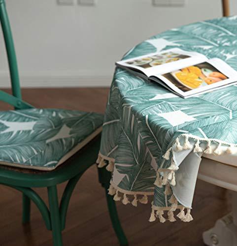 Xlabor - Tovaglia rotonda con nappa, impermeabile, facile da pulire, per giardino, camera da letto, decorazione da tavolo, motivo A 180 cm