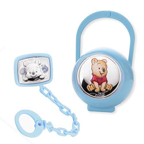 Disney Baby - Attache sucette et range-sucette Winnie l'Ourson - en argent