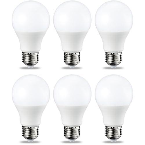 AmazonBasics Lampadina LED E27, 9W (equivalenti a 60W), Luce Bianca Calda, Dimmerabile - Pacco da 6