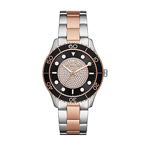 Michael Kors Womens Analog Quartz Uhr mit Stainless Steel Armband MK6960